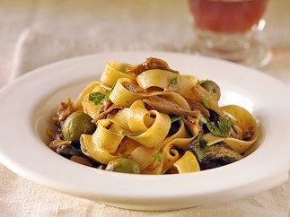 Pappardelle with Lamb and Eggplant Ragu