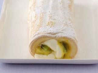 Passionfruit Curd Pavlova Roll