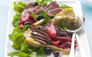 Peppered Lamb and Artichoke Salad