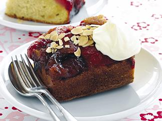 Plum and Almond Upside-Down Cake
