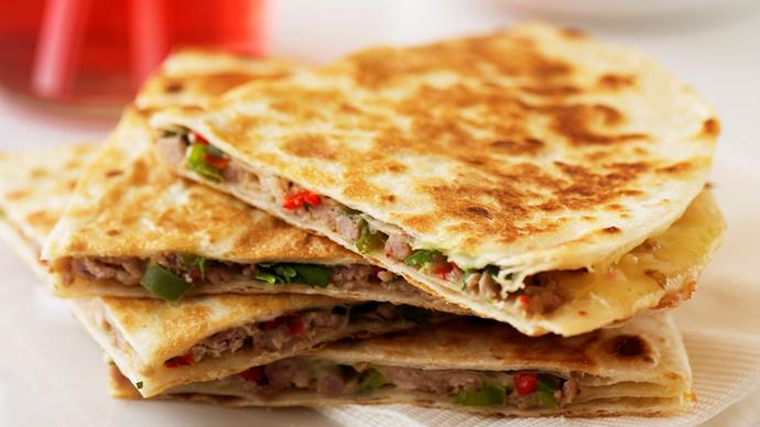 Pork and Cheese Quesadillas with Guacamole