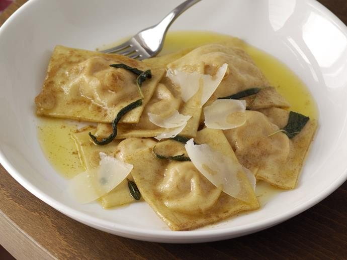 "**[Pumpkin ravioli with sage butter](https://www.womensweeklyfood.com.au/recipes/pumpkin-ravioli-with-sage-butter-26617|target=""_blank"")**  This soft, light butternut pumpkin ravioli with cheese and the earthy herb flavour of sage is truly satisfying."