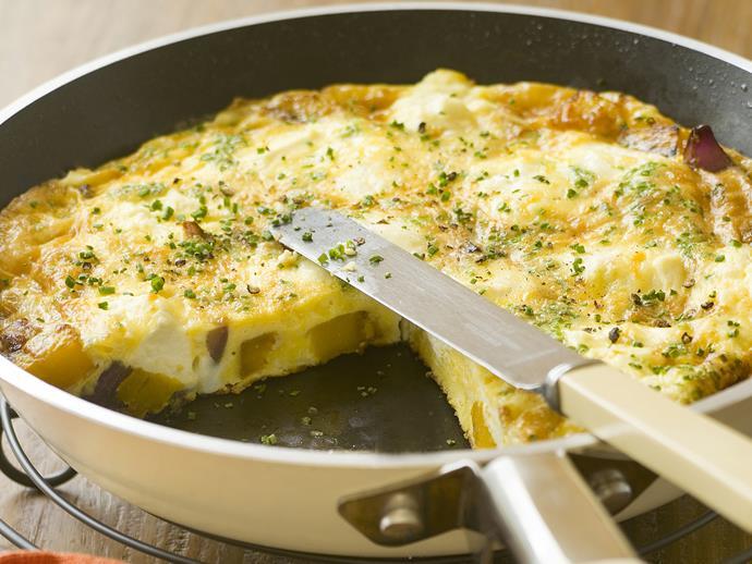"**[Pumpkin, ricotta and parmesan frittata](https://www.womensweeklyfood.com.au/recipes/pumpkin-ricotta-and-parmesan-frittata-23281|target=""_blank"")**"