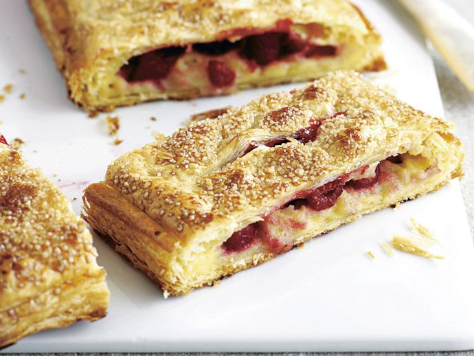 "**[Raspberry custard pastries](https://www.womensweeklyfood.com.au/recipes/raspberry-custard-pastries-23286|target=""_blank"")**"