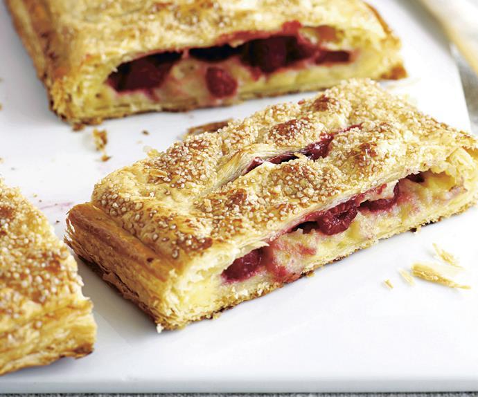 Raspberry Custard Pastries