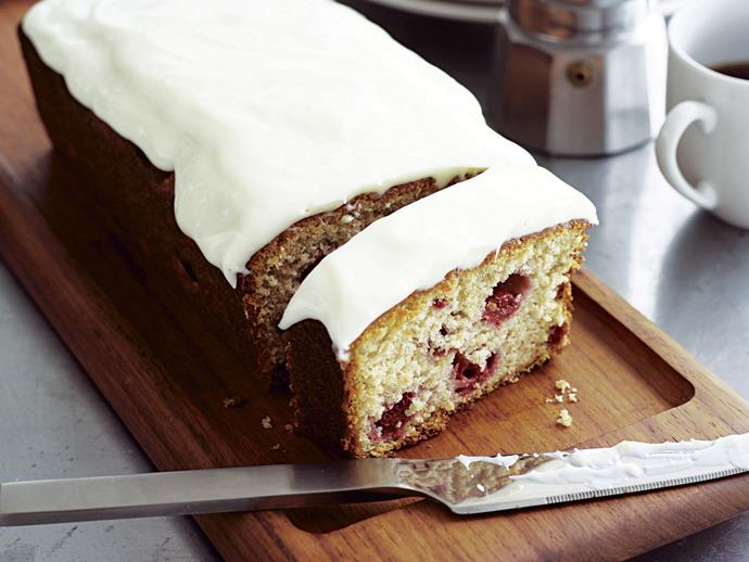 "[Raspberry yoghurt loaf recipe.](https://www.womensweeklyfood.com.au/recipes/raspberry-yoghurt-loaf-23288|target=""_blank"")"