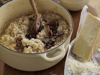 Really good mushroom risotto