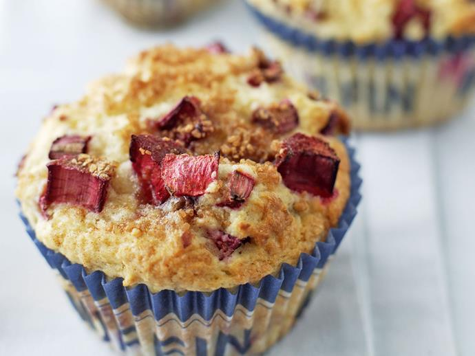 "**[Rhubarb vanilla muffins](https://www.womensweeklyfood.com.au/recipes/rhubarb-vanilla-muffins-23291|target=""_blank"")**"