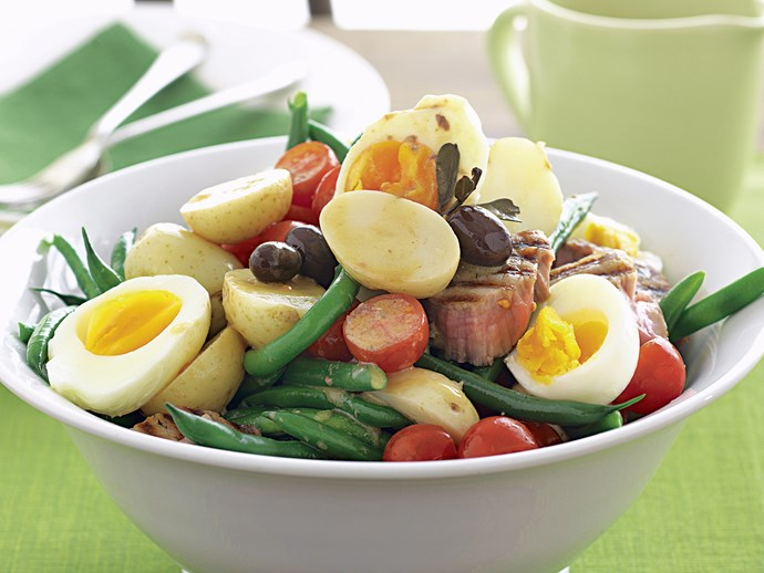"Perfect hard-boiled eggs are a key ingredient in this [classic salad nicoise](http://www.foodtolove.com.au/recipes/salad-nicoise-7576|target=""_blank"")."