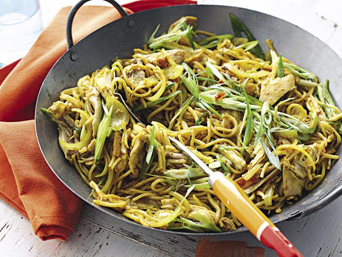 """**[Singapore noodles](https://www.womensweeklyfood.com.au/recipes/singapore-noodles-28224