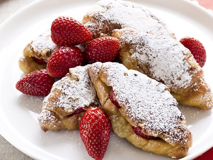 """Hold onto your hat, this [strawberry croissant French toast](https://www.womensweeklyfood.com.au/recipes/strawberry-croissant-french-toast-23315