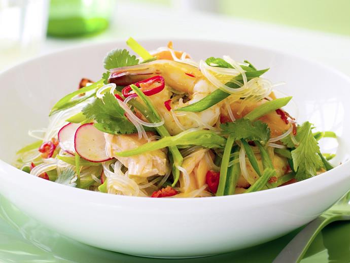 "**[Thai-style seafood and rice vermicelli salad](https://www.womensweeklyfood.com.au/recipes/thai-style-seafood-and-rice-vermicelli-salad-28122|target=""_blank"")**  Take a trip to Bangkok with this fresh Thai-style salad, bursting with flavours of lemongrass, chilli sauce and chunks of tender seafood."