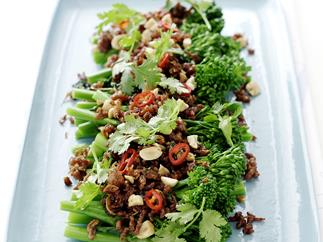 Thai-Style Sticky Pork and Broccolini