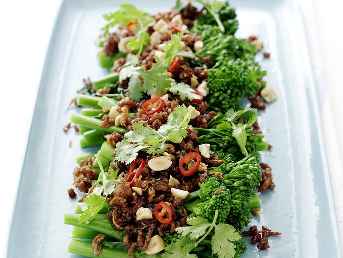 "**[Thai-style sticky pork and broccolini](https://www.womensweeklyfood.com.au/recipes/thai-style-sticky-pork-and-broccolini-27367|target=""_blank"")**  Invoke the spicy and juicy senses of Thai cuisine with this quick to prepare sticky pork salad. Perfectly suited as a summer dish."