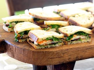 YABBY SANDWICHES WITH EGGPLANT, WATERCRESS AND MAYONNAISE