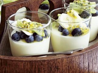 yoghurt AND MANGO MOUSSE