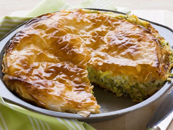 "**[Zucchini and cheese pie](https://www.womensweeklyfood.com.au/recipes/zucchini-and-cheese-pie-23335 target=""_blank"")**"
