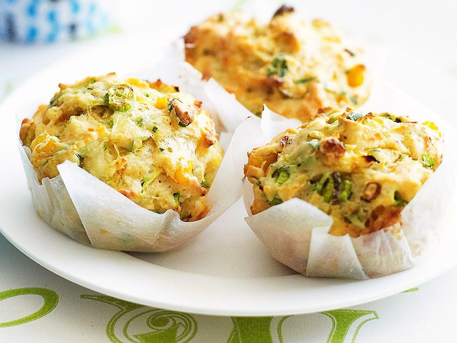"**[Zucchini and corn muffins](https://www.womensweeklyfood.com.au/recipes/zucchini-and-corn-muffins-23336 target=""_blank"")**"