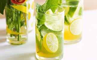 Lime and mint punch