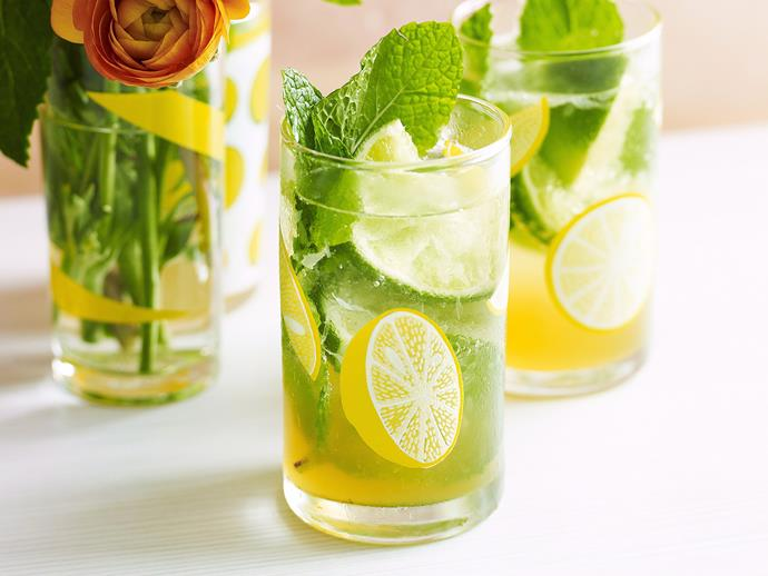 "**[Lime and mint punch](https://www.womensweeklyfood.com.au/recipes/lime-and-mint-punch-26655|target=""_blank"")**  Combine zesty lime with rum and the distinct aroma of mint to create this knockout, refreshing punch."