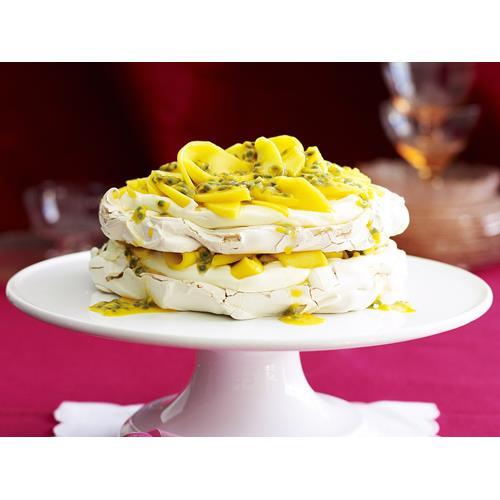 Passion Fruit Meringue Cake