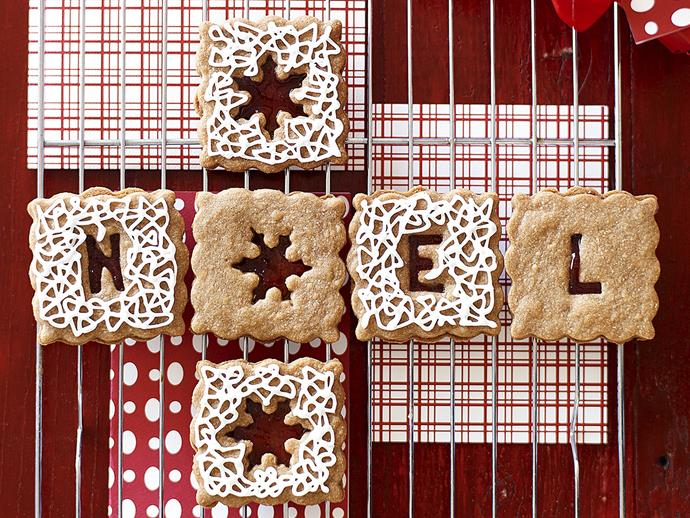 "**Spiced Christmas biscuits** <br><br> Ginger, cloves and mixed spice meet sticky jam and icing. <br><br> [**Read the full recipe here**](https://www.womensweeklyfood.com.au/recipes/spiced-christmas-biscuits-28210|target=""_blank"")"