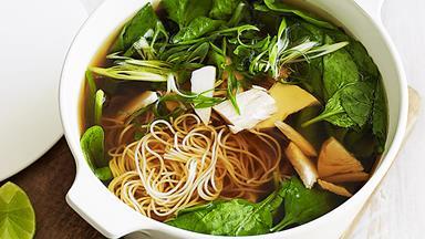 Turkey and noodle soup