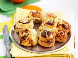 Mini vegemite and cheese scrolls