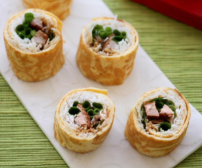Duck and Noodle Egg Rolls