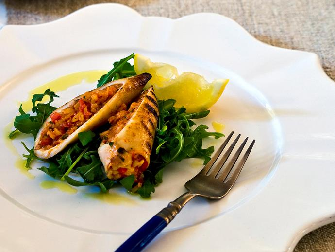 "Try this delicious [Spanish-inspired stuffed squid recipe](https://www.womensweeklyfood.com.au/recipes/spicy-tomato-and-rice-filled-squid-14697|target=""_blank"") for an impressive starter or lunch."