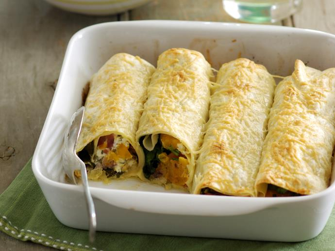 """**[Prosciutto, pumpkin and sage cannelloni](https://www.womensweeklyfood.com.au/recipes/prosciutto-pumpkin-and-sage-cannelloni-14698