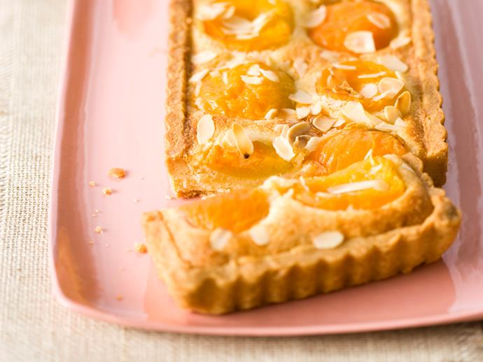 """**[Apricot and almond tart](https://www.womensweeklyfood.com.au/recipes/apricot-and-almond-tart-25471