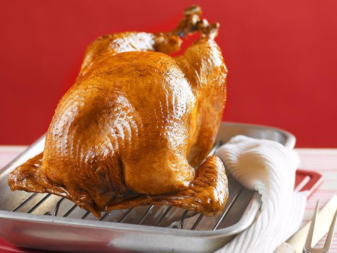 "**[Bacon, macadamia and apricot stuffed turkey](https://www.womensweeklyfood.com.au/recipes/bacon-macadamia-and-apricot-stuffed-turkey-23349 target=""_blank"")**"