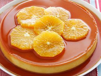 orange caramel custard
