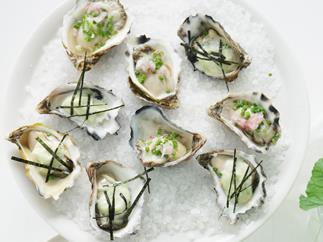 oysters with wasabi mayonnaise