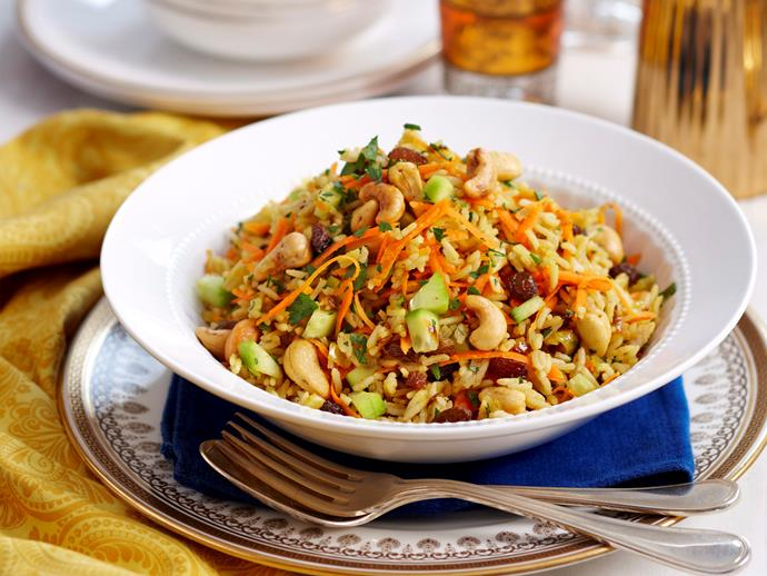 """**[Indian rice salad](https://www.womensweeklyfood.com.au/recipes/indian-rice-salad-28241
