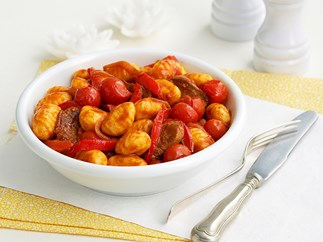 Lamb goulash with gnocchi