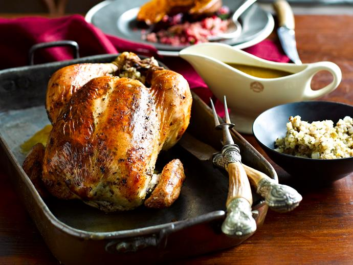 """Try this delicious **[lemon thyme roast chicken with citrus fennel stuffing](http://www.foodtolove.com.au/recipes/lemon-thyme-roast-chicken-with-citrus-fennel-stuffing-8081 target=""""_blank"""")** for a tasty twist on the classic turkey. The zesty stuffing will leave you wanting seconds."""