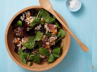 Middle Eastern lamb and date rice salad