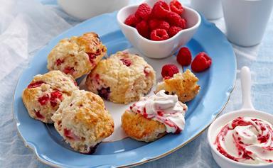 Mixed berry scones