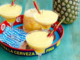 Pineapple and chilli margaritas