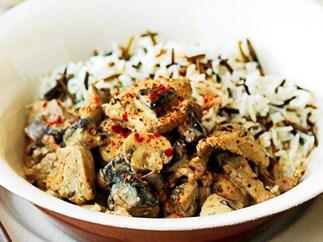 Pork and mushroom stroganoff