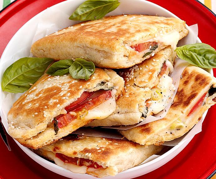 Provolone, tomato and basil gozleme