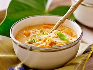 Pumpkin and coconut noodle soup