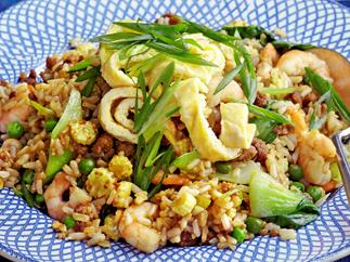 Hearty fried brown rice
