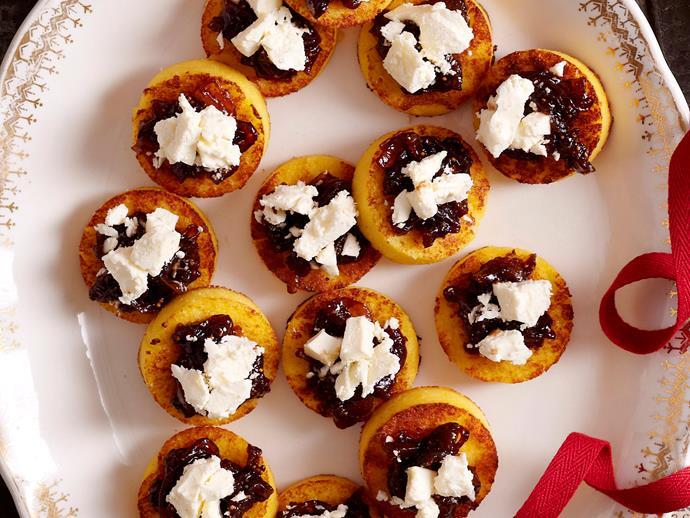 "[Polenta rounds with fig relish and feta](http://www.foodtolove.com.au/recipes/polenta-rounds-with-fig-relish-and-feta-8286|target=""_blank"")"