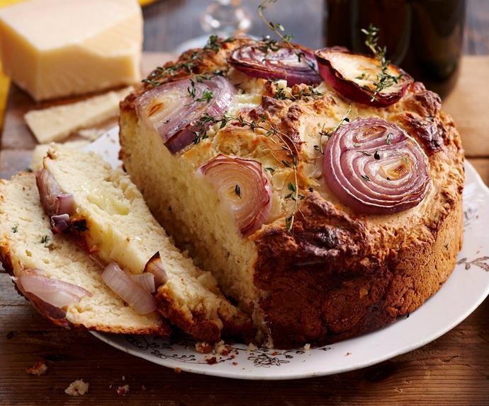 Three-cheese bread