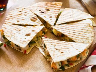 Let's do Lunch - Prawn, chilli and lime quesadilla