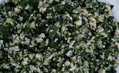 Minted tabouli salad