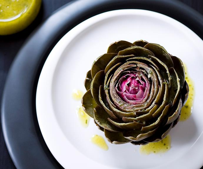 Artichokes with garlic vinegarette